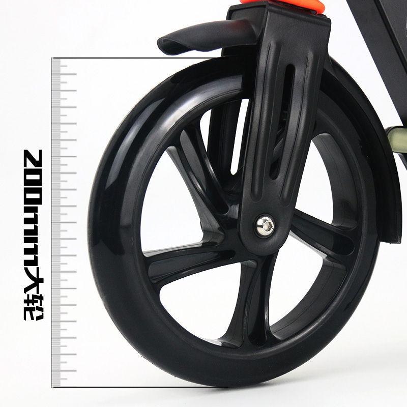 Aluminum Alloy 2 Wheel Scooters For Adults Kids Folding Portable Mini Bicycle Adult Kick Scooter Height Adjustable Scooter 200mm