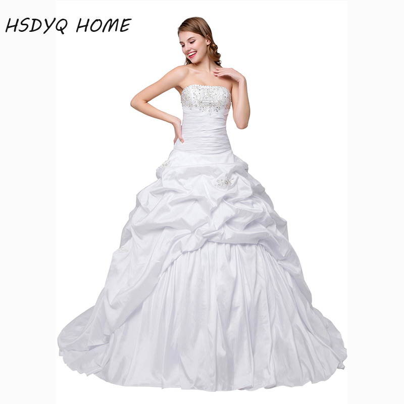 In stock White Ball Gown Wedding Dresses Classic Design 2017 bridal gown Robe De Mariage Vestido De Noiva