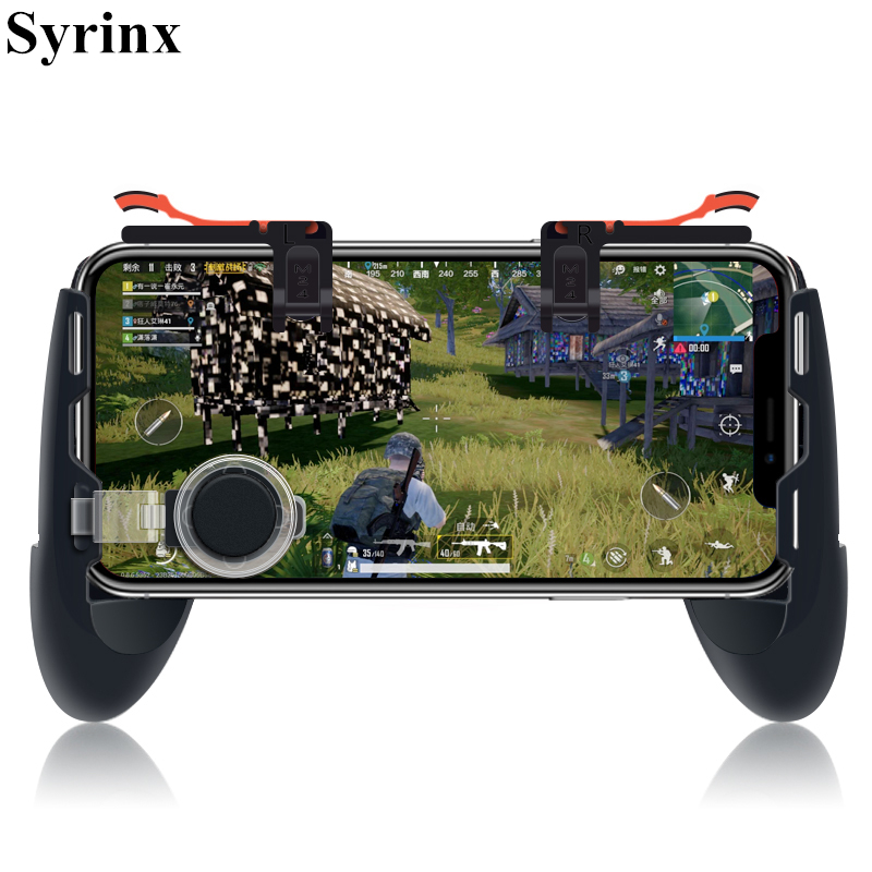 SYRINX Mobile Phone Game Controller For PUBG Game Joypad + Auxiliary Quick Button For IPhone Andriod Phones Game Gamepad Holder