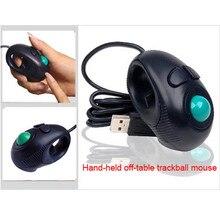 Reliable gaming mouse Neu Finger HandHeld 4D USB Mini Portable Trackball Mouse