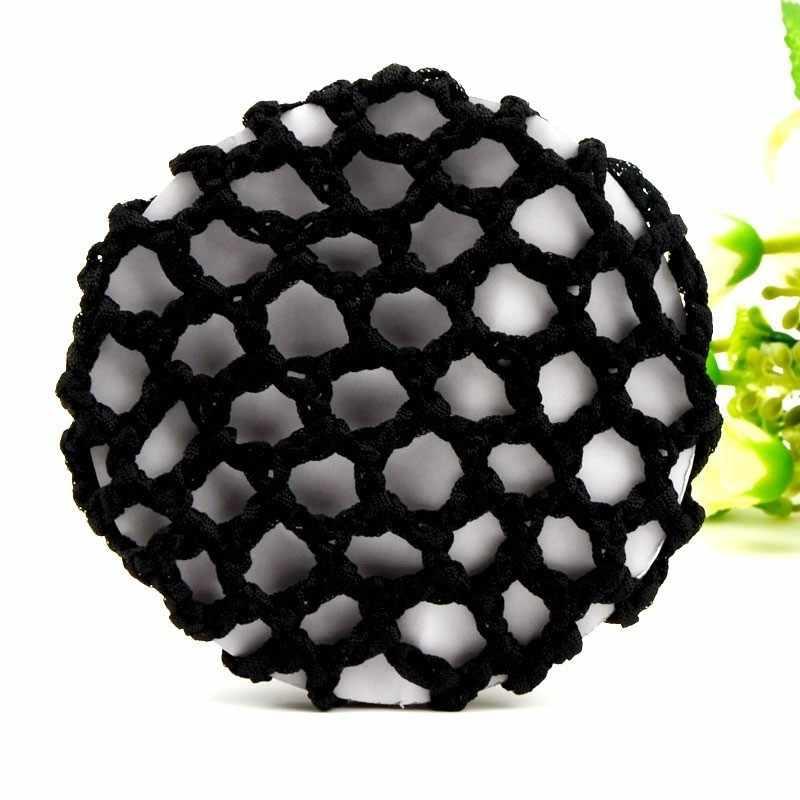 1 Buah/Bungkus Elastis Rambut Jaring Rambut Net Handmade Crochet Mutiara Hairnet Heardress untuk Pertunjukan Tari Hairnet