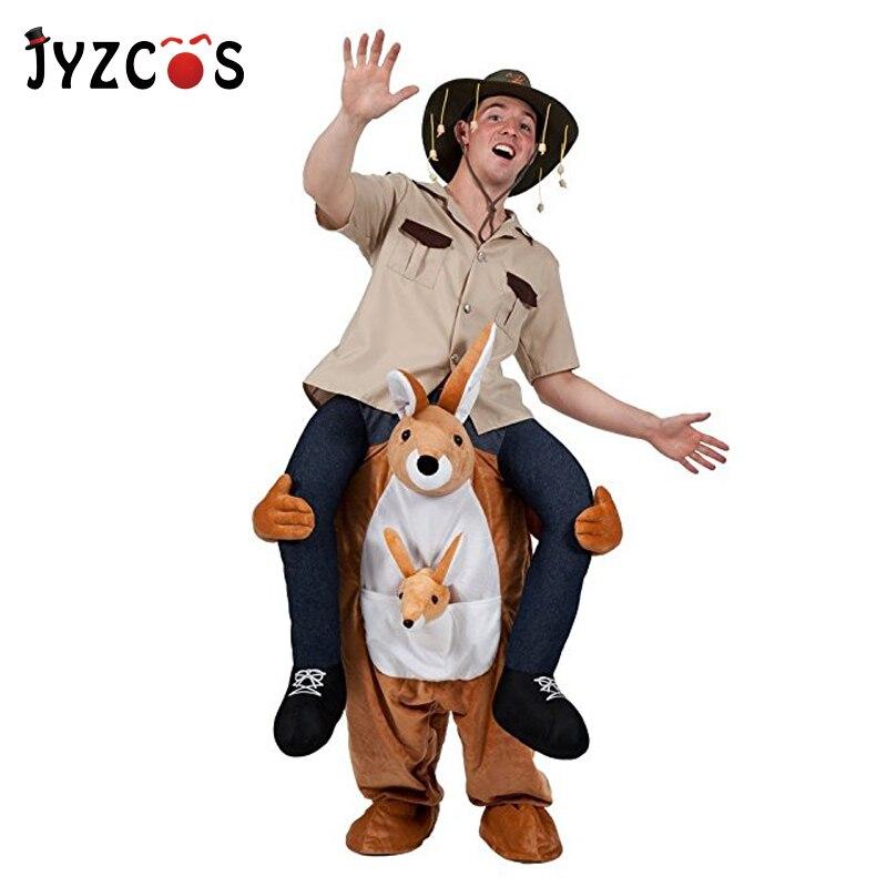 JYZCOS Ride On Kangaroo костюм Ride on Me маскоты костюм животных косплей вечерние партия Новинка брюки игрушки для Пурим Хэллоуин Рождество