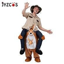 JYZCOS Ride On Kangaroo Costume Ride on Me Mascot Costume Animal Cosplay Party Novelty Pants Toys for Purim Halloween Christmas