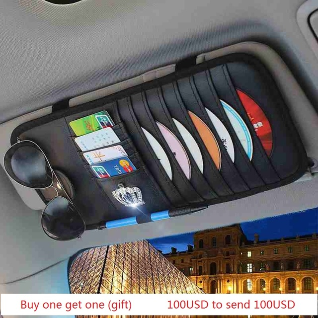 Auto car sunshade CD cards storage bag holder car organizer fashion ...