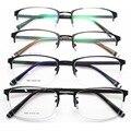 La moda de Nueva Patrón de Fondo de Marco de Los Vidrios Hombres Mujeres Restaurar Maneras Exceden Luz Marco de Metal Medio Marco de Montura de gafas