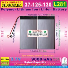 [L281] 3,7 V 9000mAh [37125130] NTC; 3 провода; три провода; полимерный литий-ионный/литий-ионный аккумулятор для планшетных ПК; электронная книга; нетбук