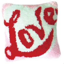 DIY Latch Hook Kits Rug Pillowcase Crocheting Cushion Carpet Unfinished Handmade Canvas Rugs Mat Cartoon Adults Kids Gift Love