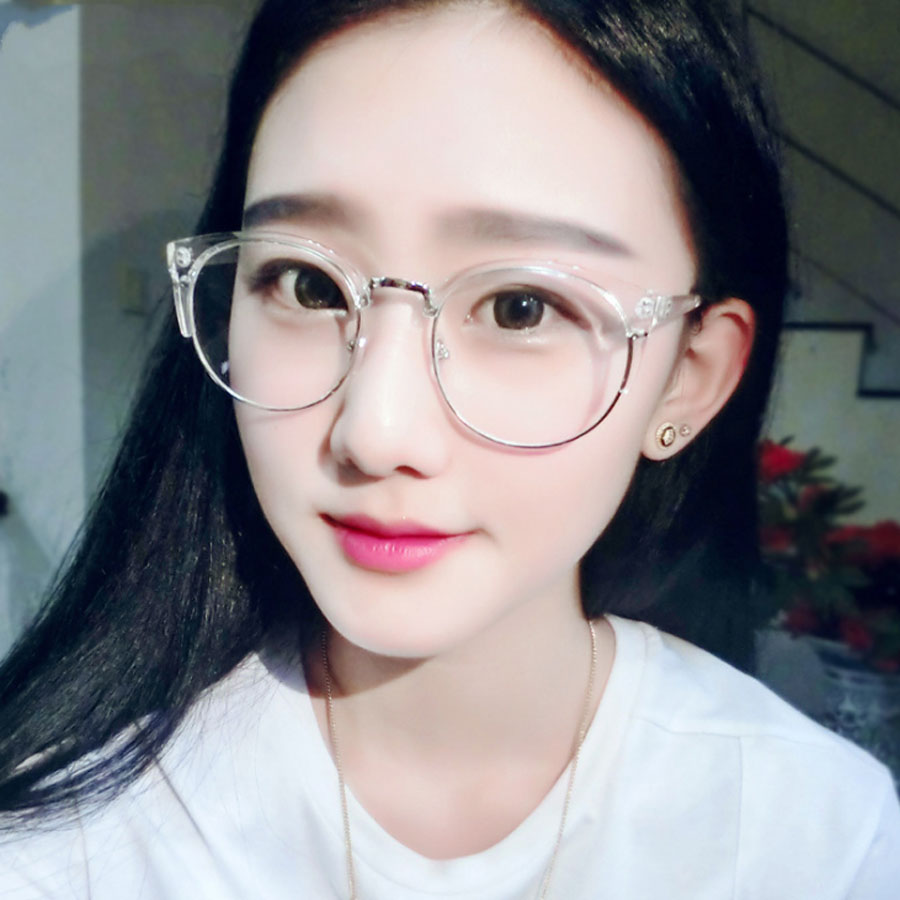 vintage round transparent glasses frame for women cat eye eyeglasses frame nerd clear glasses spectacle optical
