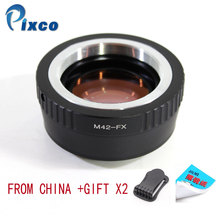 Pixco N42 FX Speed Booster ลดโฟกัสเลนส์ Adapter สำหรับ M42 F เลนส์ Fujifilm X กล้องสำหรับ Dropshipping