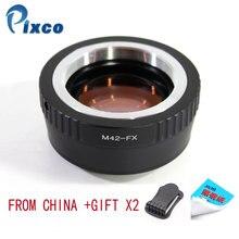 Pixco N42 FX 스피드 부스터 초점 감속기 렌즈 어댑터 슈트 m42 f 렌즈 용 fujifilm x 카메라 dropshipping 용