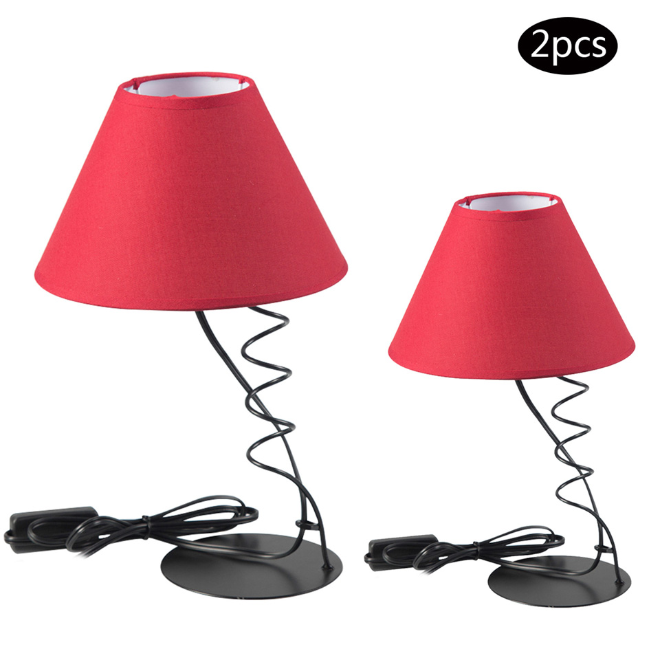 Creative Design Led Desk Lamp Black Iron Body Reading Lights Fashion Home Decoration Living Room Bedroom Study ...