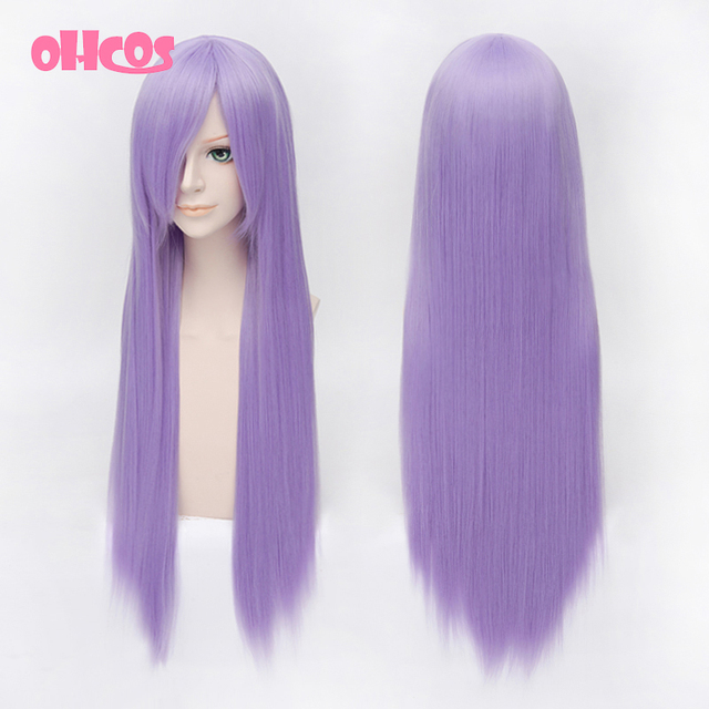OHCOS Anime Anjieluote Reisen Udongein Inaba 80cm Purple Long Straight Synthetic Hair Cosplay Wig