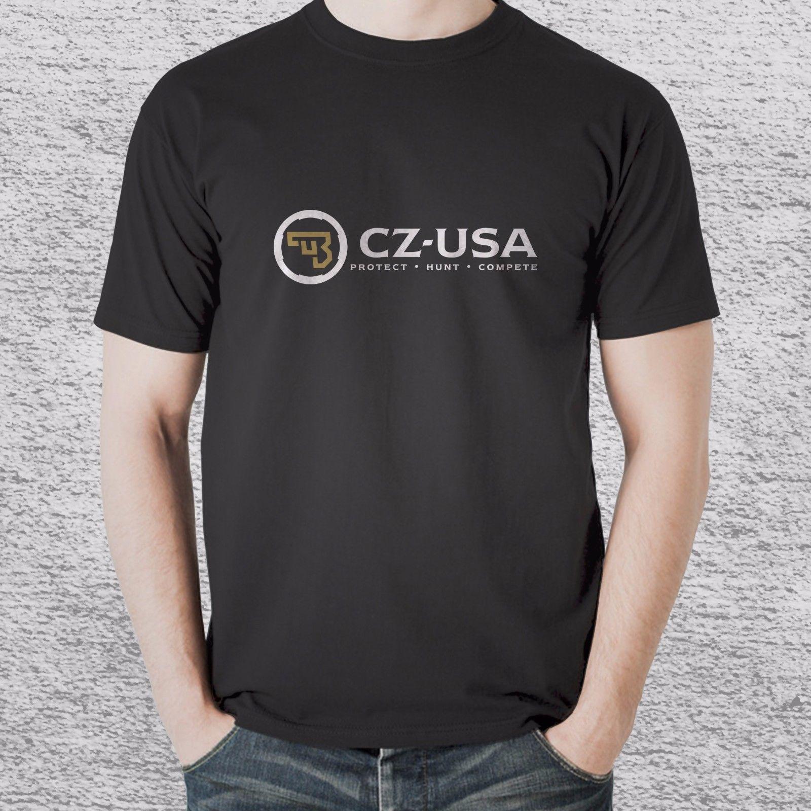 New CZ Ceská Zbrojovka Czech Firearms t shirt tee 2 sides