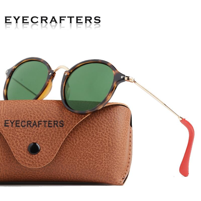 Eyecrafters Fashion Round Fleck Sunglasses Mens Womens Retro Vintage Round Polarized Sunglasses Tortoise Frame With G15 Lens