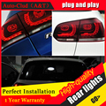 АВТО. PRO Для vw golf 6 задние фонари 2009-2013 R20 модель Для VW golf MK6 светодиодные задние фонари автомобиль стайлинг обложка drl + сигнал + тормозная + обратный