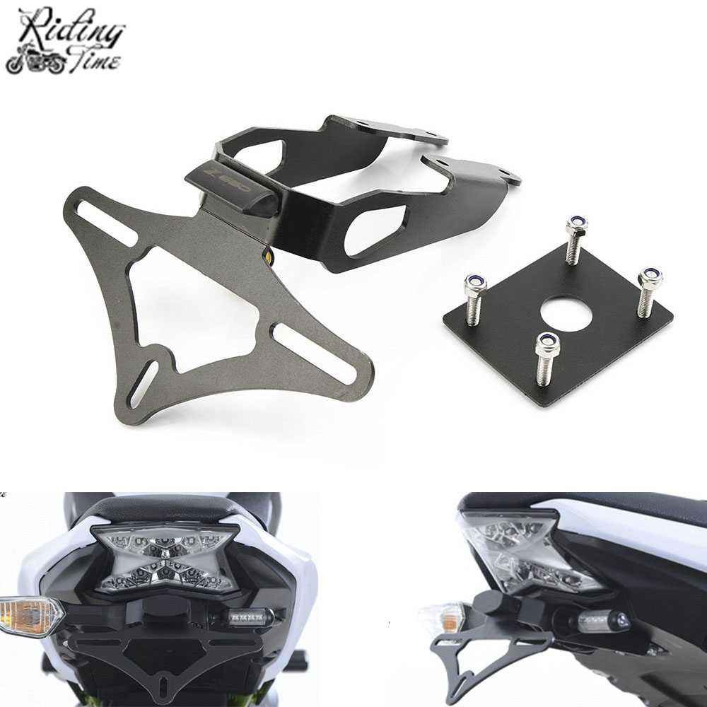For Kawasaki Z650 Z 650 Ninja 650 2017 2018 Motorcycle License Plate Holder Bracket Frame Led Light Tail Tidy Fender Eliminator