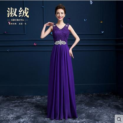 e9820428c54 in shock long formal Special Occasion dresses Chiffon lace ligh blue dark  purple pink tank floor-length   50 bridesmaid dresses