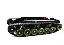DIY 85 Light Shock Absorption Plastic Tank Chassis with Rubber Crawler Belt Tracked Vehicle Big Size