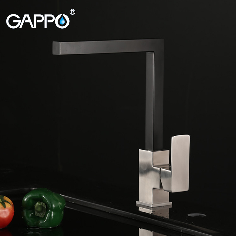 GAPPO Kitchen Faucet Tap Kitchen Sink Faucet Water Mixer Black Plated Kitchen Faucet