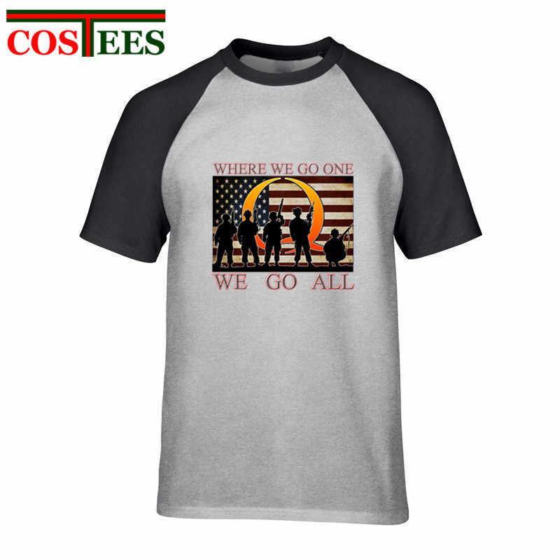 QAnon patriotyczne T shirt mężczyźni, gdzie idziesz, którą przejść całą p Anon armii T-shirt weteranów wojskowych topy amerykański wielkie przebudzenie tshirt