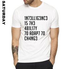 Camiseta formal de stephen hawking, camiseta engraçada de design de inteligência para homens e mulheres, camiseta premium unissex para homens