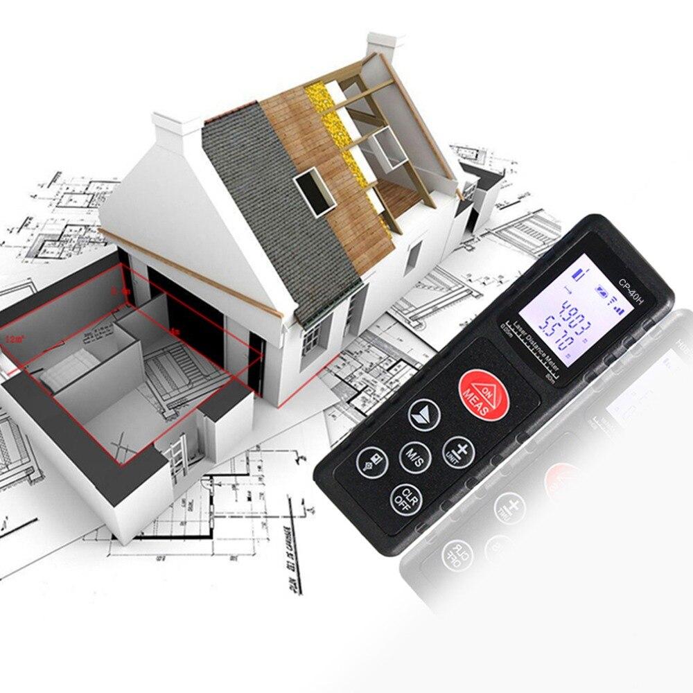 Professional CP-40H Mini 40M Handheld Digital Laser Distance Meter Range Finder Diastimeter for Construction Industries 2Colors