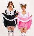 Cardcaptor Sakura black and White Pink Cos Hatsune Miku Cosplay Costume Maid Loaded Send Leggings