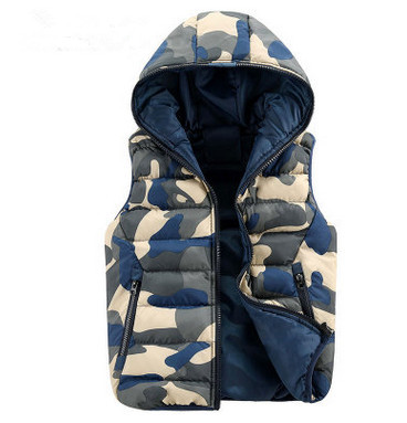 Men's new casual cotton hooded vest camouflage vest a variety of colors to choose fashion casual warm