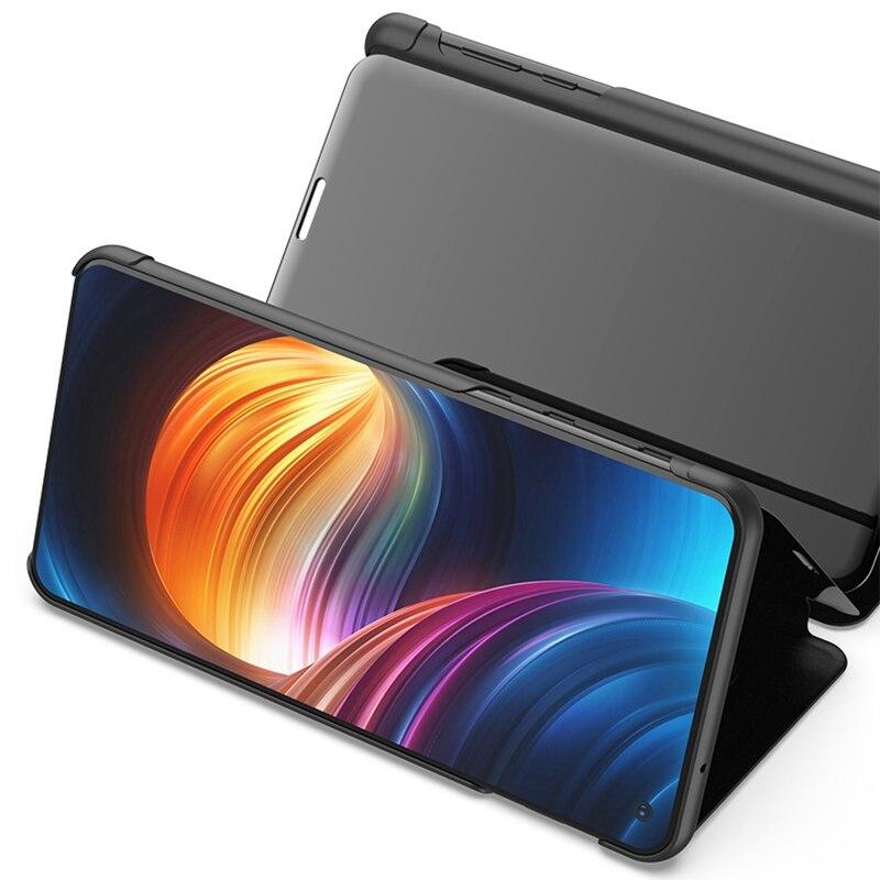Étui pour Samsung Galaxy A30 en cuir 1119B étui à rabat pour miroir intelligent pour Samsung Galaxy A40 A70 étui Support chargeur sans fil