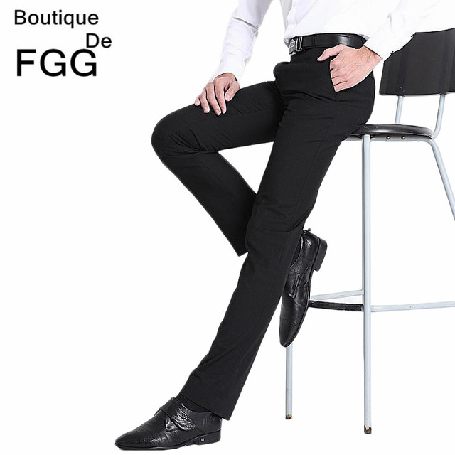 cc08f2d5 Size29 40 Easy Care Straight Mens Wedding Trousers Business Formal Men  Dress Pants Black Suit Pants Pantalones Hombre De Trabajo-in Suit Pants  from ...