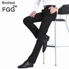 Size29-40 Cuidado Fácil Reta Calças Dos Homens Calças de Negócios Formais Dos Homens Vestido de Casamento Terno Preto Calças Pantalones Hombre De Trabajo(China (Mainland))