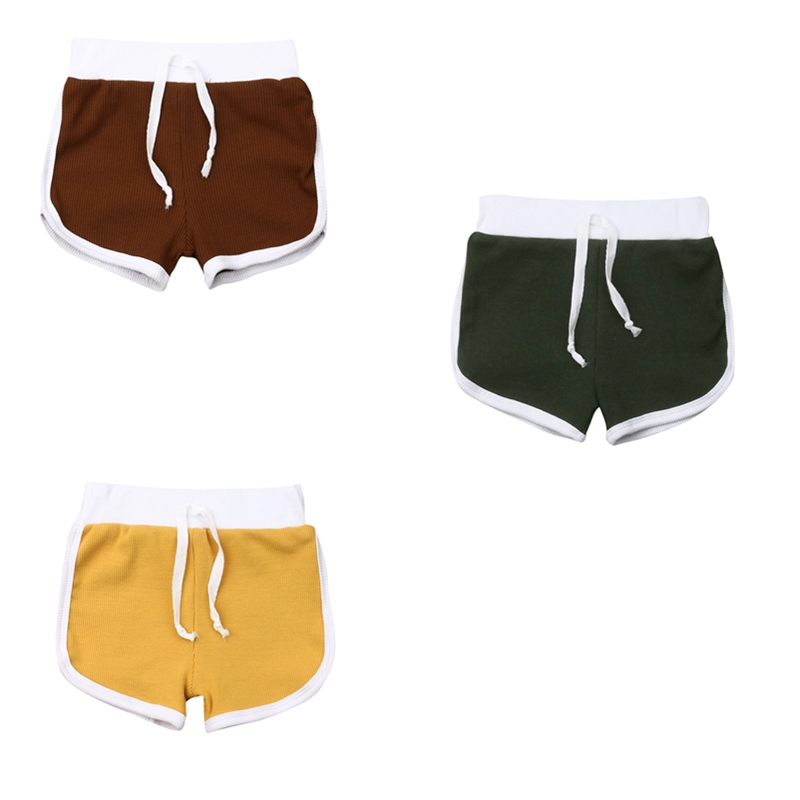 2019 Toddler Baby Boy Knitted Shorts Beach Casual Pure