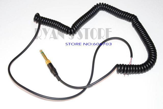 Replacement Coiled DJ Wire Cable Line Plug For AKG K121 K142 K172 ...