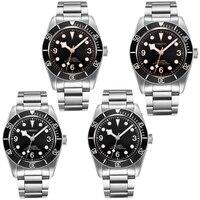 41mm Corgeut marcas mostrador preto ouro preto pulseira MIYOTA de vidro Moldura de safira relógio Automático dos homens dos homens|Relógios mecânicos| |  -