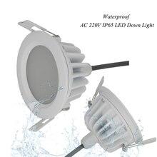 (6 יח\חבילה) הגעה חדשה 15 W IP65 עמיד למים ניתן לעמעום LED Downlight עמעום אור ספוט LED הוביל מנורת תקרה לאמבטיה COB15W
