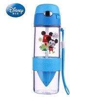 Disney Garrafa de Água BPA Livre Crianças Garrafa de Água Com Tampa De Palha De Plástico Ecológico Copo de Acampamento Dos Miúdos Dos Desenhos Animados