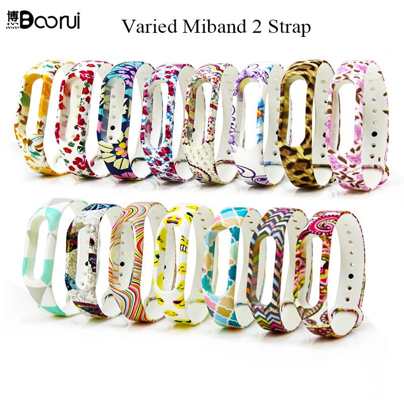 Fashion Colorful Varied Flowers Miband 2 Strap Silicone Wristband Replacement Pulsera Correa Mi Band 2 Straps For Xiaomi Mi 2