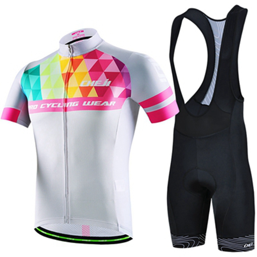 CHEJI New Ropa Maillot Ciclismo Summer Breathable Cycling Jersey sets Bike Summer Mtb Bicycle Clothing set Mountain Bike Clothes  breathable cycling jersey summer mtb ciclismo clothing bicycle short maillot sportwear spring bike bisiklet clothes ciclismo