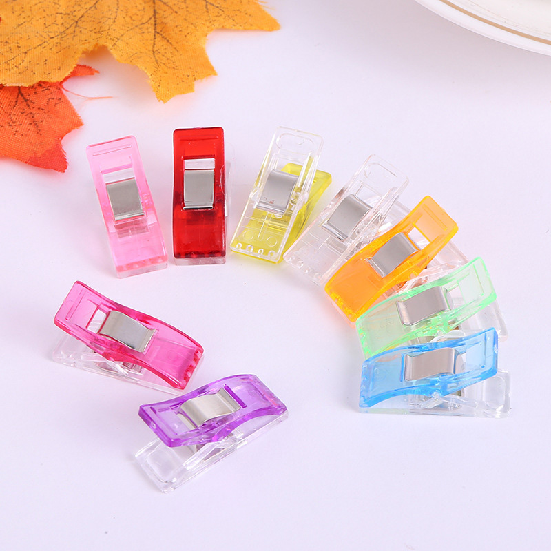 50 Pcs Wonderful High Quality Multicolor Patchwork Sewing  Tool Accessory Quilt Quilting Clips Plastic Clip DIY Crafts