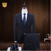 מותג אופנה באיכות גבוהה גברים של חליפות פס שחור חליפת טרייל Slim Fit זכר טוקסידו לנשף מותאם אישית מעיל חתונה + מכנסיים + אפוד