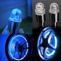 Hot 2 Unids Bici Del Coche Tapa de la Válvula del Neumático de la Rueda Habló La Luz de Neón del LED de Color Azul