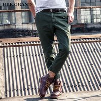 HEE GRAND Cargo Pants For Men Ankle-Length 2017 New 100% Cotton Breathable Material Casual Male Spring Autumn Pants MKX1234
