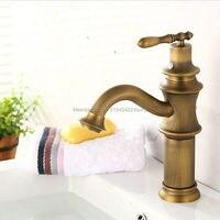 Free Shipping Bathroom Basin Faucet Antique Bronze Mixer Tap Sink Vanity Faucet Bath Basin Mixer ZR163