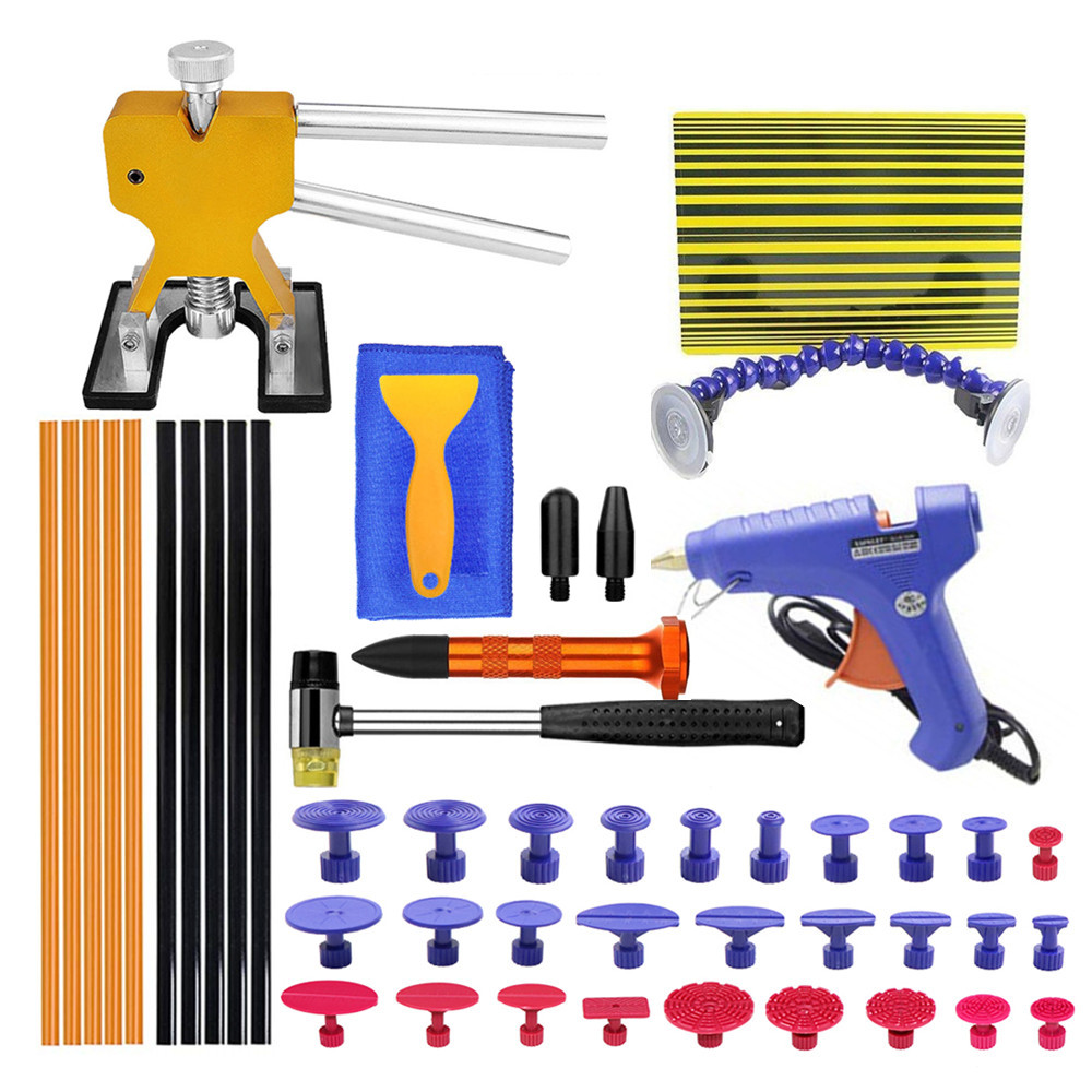 PDR Tools Kit Car Dent Repair Paintless Dent Repair tools  Reflector Board Dent Puller for remove dents pdr glue for auto bodyPDR Tools Kit Car Dent Repair Paintless Dent Repair tools  Reflector Board Dent Puller for remove dents pdr glue for auto body