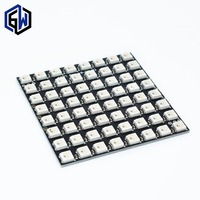 WS2812 LED 5050 RGB 8x8 64 LED Matrix For Arduino