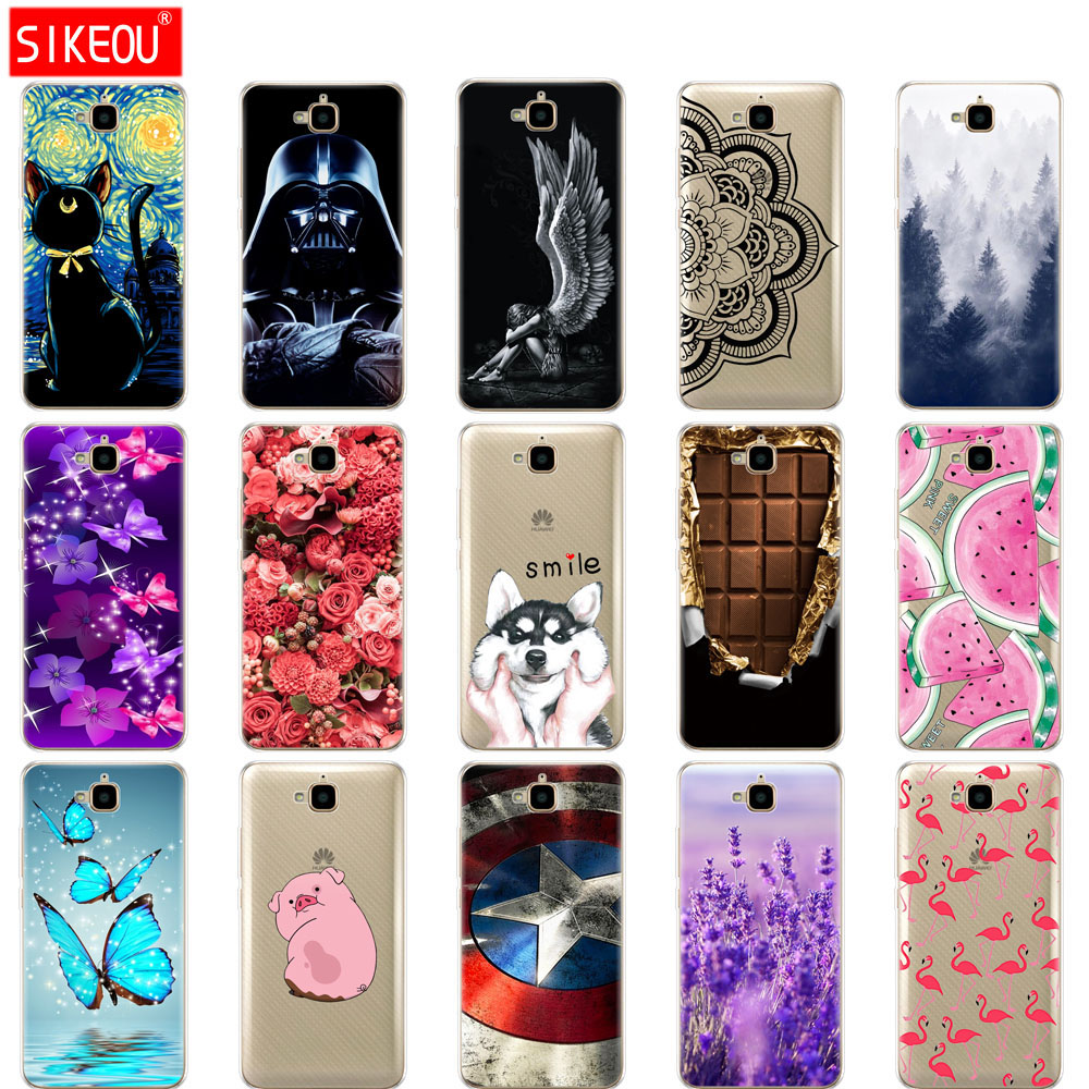Silicone Case For Huawei Honor 4C Pro Soft Tpu Back Phone Cover For Huawei Y6 Pro 2015 Case TIT-L01 TIT-TL00 Bumper Protect Bags