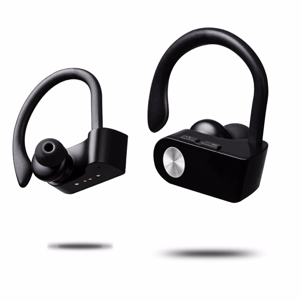 Hot Smart Mini Wireless Bluetooth Headset Outdoor Sport Fashion Ear Hook with NFC function Mic Earphone for Mobile Phone universal led sport bluetooth wireless headset stereo earphone ear hook headset for mobile phone with charger cable