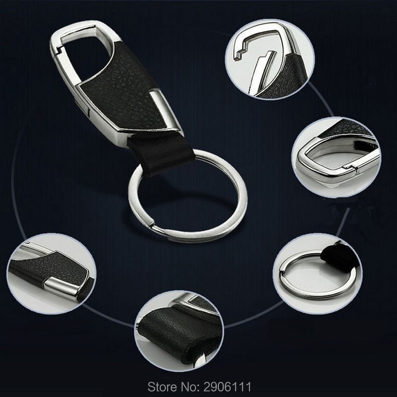 car styling Leather Key Chain Metal Car Key Ring Multifunctional Tool Key Holder for Renault clio megane 2 3 captur logan kadjar metal ring holder for smartphones silver