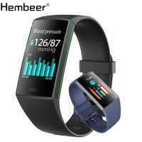 Hembeer HY11 banda inteligente Monitor de ritmo cardíaco pulsera de Fitness Monitor de presión arterial podómetro rastreador de actividad deportiva pk Fit Bit