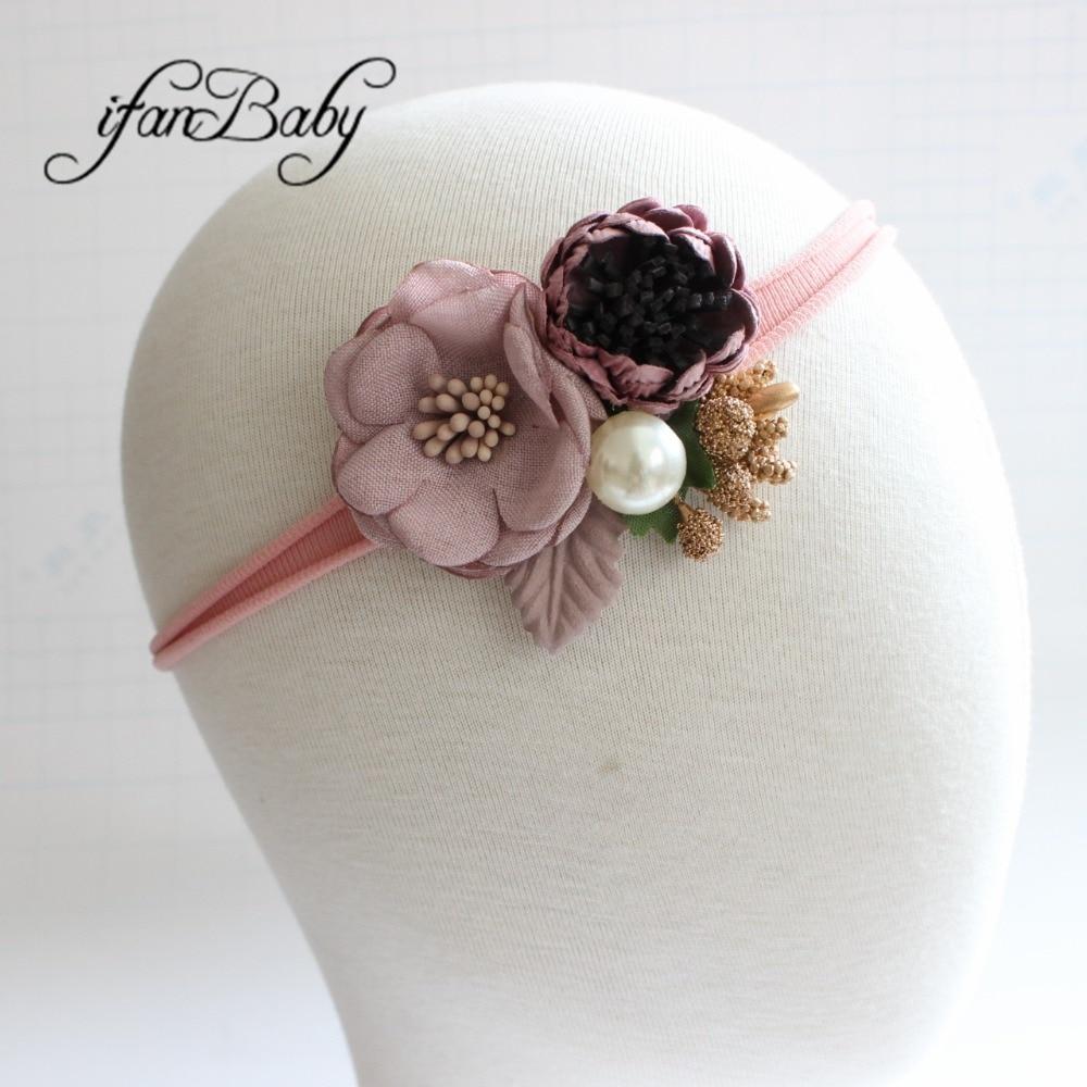 kids girl nylon flower headband (10)